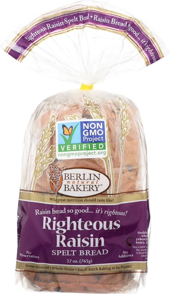 Berlin Natural Bakery Righteous Raisin Spelt Bread - 27oz