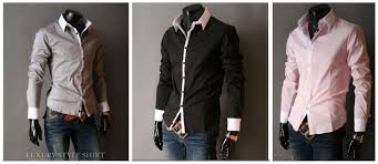 2015 plus size men slim fit stylish causal shirts luxury long