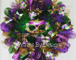 Mardi Gras Mask Door Decoration by Wreathdesign By Wreathsbydesign1 On Etsy