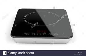 Portable induction cooktop on white background Stock