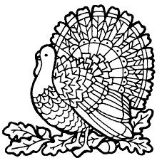 Turkey Coloring Pages Coloringfilminspector
