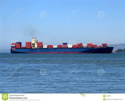 100 Shipping Containers San Francisco Cargo Ship In Bay Stock Image Image Of Shipping