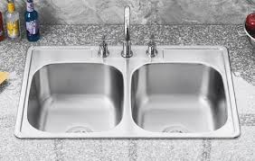 Overmount Double Kitchen Sink by Sis 202 Di Cursa Drop In Double Equal Bowl Kitchen Sink