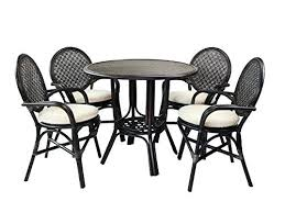 Wicker Chairs Ikea Armchairs Song Arm Canada 5 Rattan Dining Set Round Table W Top 4 Furniture Licious