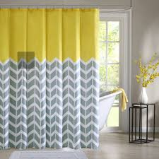 geometric pattern curtains canada home essence apartment darcy 100 microfiber printed shower