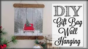 DIY Gift Bag Wall Hanging