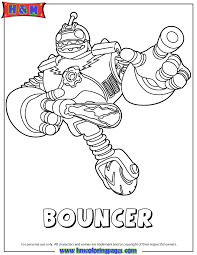 Skylanders Giants Printable Coloring Pages Tech First Edition Bouncer Page H Amp M