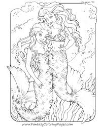 Mermaid Coloring Pages Popular For Adults
