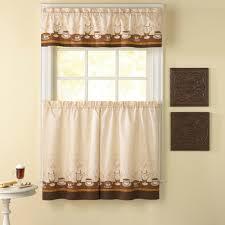 Amazon Prime Kitchen Curtains by Amazon Com Chf Industries Cafe Au Lait 36 In Kitchen Curtain Set