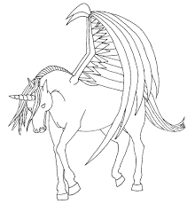 Successful Winged Unicorn Coloring Pages With Wings Drawing At Getdrawings Com Free For Personal 979x1024