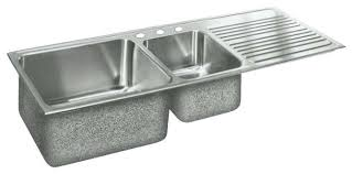 double drainboard kitchen sink awesome double bowl stainless steel