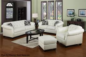White Leather Sofa Bed Ikea by White Leather Couches Leather Ottoman Along With White Leather
