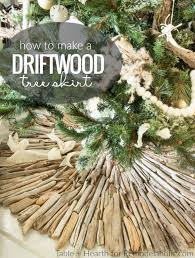 Seashell Christmas Tree Skirt by Remodelaholic How To Make A Coastal Style Rustic Driftwood