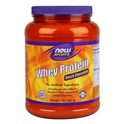 Now Foods Whey Protein Powder - Strawberry, 908g