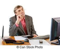 travaux de bureau ordinateur homme bureau business travaux images de stock