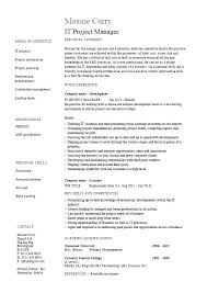 Construction Manager Resume Format Project Templates It Template Manage