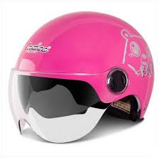 E18 Andes S 103 Vintage Scooter Bicycle Racing Vespa Off Road Motorbike Motorcycle Gloss Pink Bear Helmet Two Lens Adult Summer Casco Youth