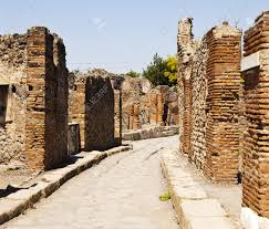 100 Brick Walls In Homes A Narrow Street In Pompeii Winds Between Old Brick Walls Of Ancient