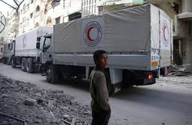 100 Eastern Truck And Trailer Syrian Forces Resume Ghouta Bombing As Aid Convoy Moves In Middle
