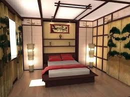 интерьер спальни в национальном японском стиле japanisches