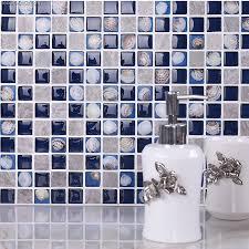 3d shell shell kitchen wall tile backsplash mosaic glass
