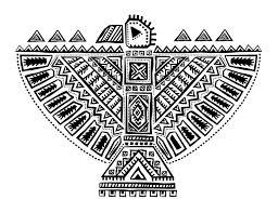 Indien D Amerique Totem En Forme D Aigle Indiens DAmérique