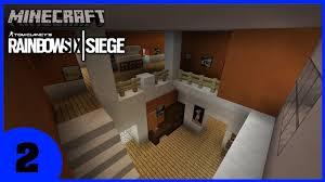 siege minecraft minecraft rainbow six siege house timelapse part 2 minecraft