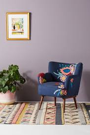 Felted Floral Petite Accent Chair | Anthropologie Zelma Accent Chair Colour Options Ireland The Lavernia Navy Available At Fniture Cnection Homespot Eva Velvet Cut Out Shaped Back Elegant Palliser Helio Contemporary Wingback With Tapered Adler Baxton Studio Vincent Dark Gray Fabric Upholstered Faux Leather Living Spaces Enfield Linen Grey Button Up To 40 Sales Now On Round Rattan Np 104 Seating Room Chairs Lazboy Powder Blue Upscale Consignment Cr Laine Daly Modern Classic Beige Nailhead Trim Wing