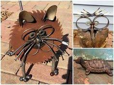 Rustic Recycled Garden Art Ideas