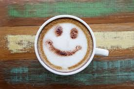 Smile Face Drawing On Latte Art Coffee Wood Color Background