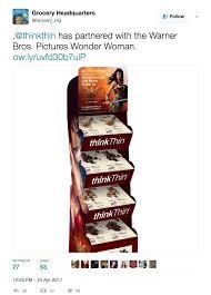 A Tweet Of Wonder Womans Partnership With ThinkThin Diet Bars