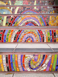 16th Avenue Tiled Steps Address by Little Hiccups Hidden Garden Steps