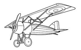 Old Airplane Coloring Pages Printable Kids Colouring