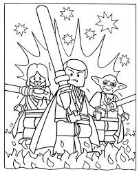 Lego Star Wars Coloring Pages Printable Kids Colouring