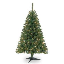 Mini Fibre Optic Christmas Tree by 4 Ft Pre Lit Hillside Pine Artificial Christmas Tree Clear