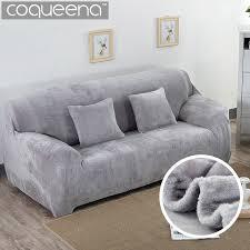 recouvre canapé doux stretch épais en peluche canapé housse canapé fauteuil