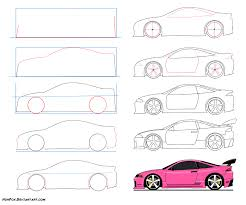 easy to draw It s Amy Rose ride Mitsubishi Eclipse GSX How to draw Sport car