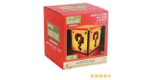Mario Bros Question Block Lamp by Official Nintendo Super Mario Question Block Night Light Bedside