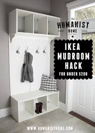 DIY mudroom bench and storage from IKEA Stolmen units for under $200
