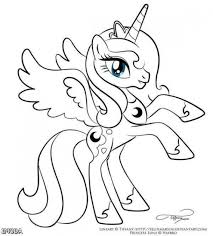 Gallery Of My Little Pony Coloring Pages Princess Celestia Printable