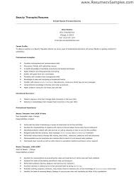 Physical Therapy Resume Sample Best Therapist