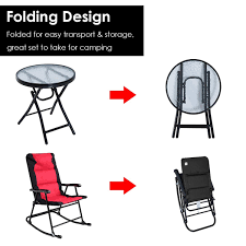 Costway: Costway 3 PCS Outdoor Folding Rocking Chair Table Set ... Amazoncom Tangkula 4 Pcs Folding Patio Chair Set Outdoor Pool Chairs Target Fniture Inspirational Lawn Portable Lounge Yard Beach Plans Woodarchivist Foldable Bench Chairoutdoor End 542021 1200 Am Scoggins Reviews Allmodern Hampton Bay Midnight Adirondack 2pack21 Innovative Sling Of 2 Bistro 12 Best To Buy 2019 Padded With Arms Floors Doors Fold Up