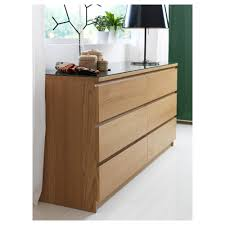 Ikea Malm 6 Drawer Dresser Size by Malm Chest Of 6 Drawers Oak Veneer 160x78 Cm Ikea