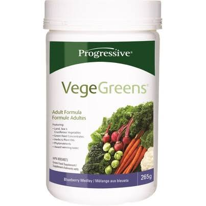 Progressive Vege Greens Food Supplement - Blueberry, 265g