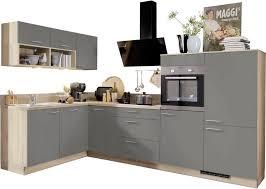 express küchen winkelküche scafa ohne e geräte vormontiert mit vollauszü und soft funktion stellbreite 305 x 185 cm kaufen