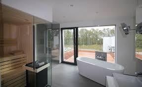 architektenhaus bauhausstil badezimmer sauna koschmieder