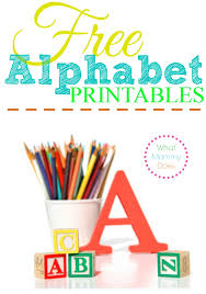 Free Alphabet Printables – Letters Worksheets Stencils & ABC Flash