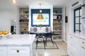 The Custom Built Ins Create Perfect Breakfast Nook Complete With A