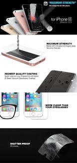 iPHONE SE iPhone 5s 5 5c GLASS SCREEN PROTECTOR ITG SILICATE
