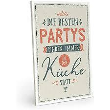 artfaves holzschild mit spruch die besten partys finden immer in der küche statt vintage shabby deko wandbild türschild